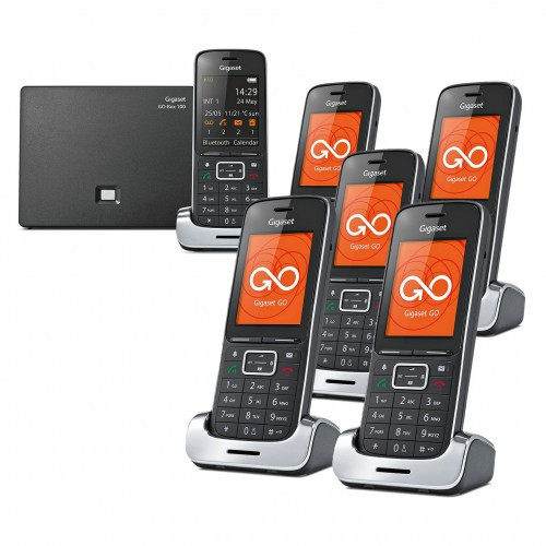 Siemens Gigaset SL450A GO Cordless Phone - Black Edition, Six Handsets