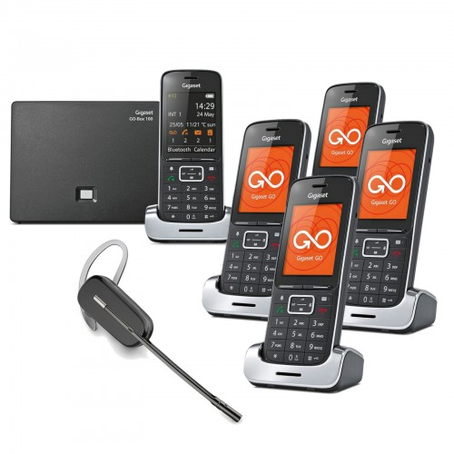 Siemens Gigaset SL450A GO Quint VoIP Cordless Phones with Wireless Headset