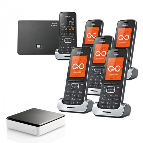 Siemens Gigaset SL450A GO Sextet Cordless Phones with Link-to-Mobile
