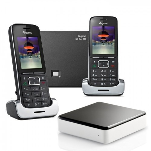 Siemens Gigaset SL450A GO Twin Cordless Phones with Link-to-Mobile