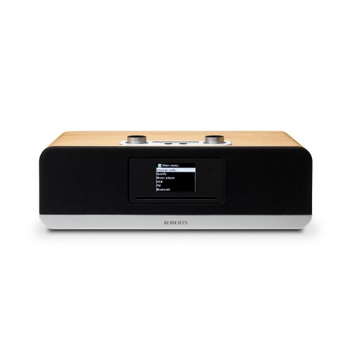 Roberts Stream 67 Voice-Controlled Smart Audio Speaker with DAB/FM, Bluetooth & CD Player in Cherry Wood