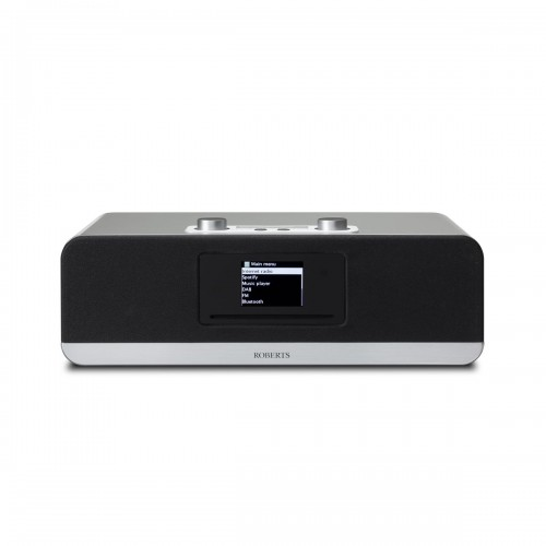 Roberts Stream 67 Voice-Controlled Smart Audio Speaker with DAB/FM, Bluetooth & CD Player in Silver