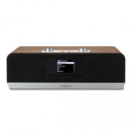 Roberts Stream 67 Voice-Controlled Smart Audio Speaker with DAB/FM, Bluetooth & CD Player in Walnut