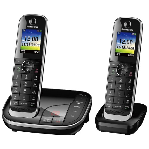 Panasonic KX-TGJ322EB Cordless Phone, Twin Handset with Nuisance Call Blocker