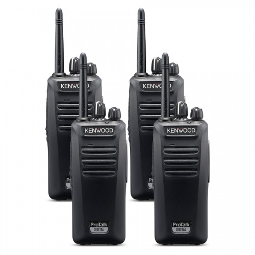 Kenwood TK-3041DT Quad Digital License-Free Two Way Radios
