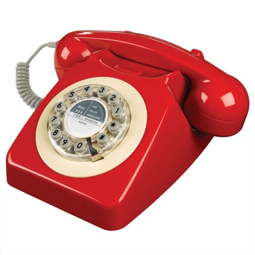 Wild & Wolf 746 Retro Phone in Phone Box Red