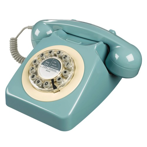 Wild & Wolf 746 Retro Phone in French Blue