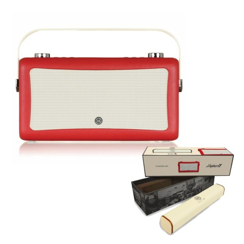 VQ Hepburn Mk II Portable DAB+/FM Radio & Bluetooth Speaker with Rechargeable Battery Pack in Red - 1