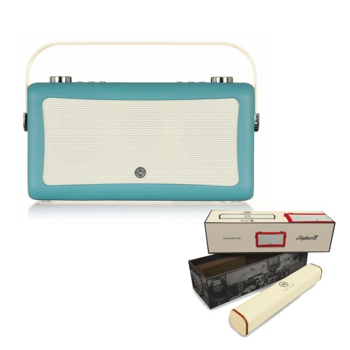 VQ Hepburn Mk II Portable DAB+/FM Radio & Bluetooth Speaker with Rechargeable Battery Pack in Teal - 1