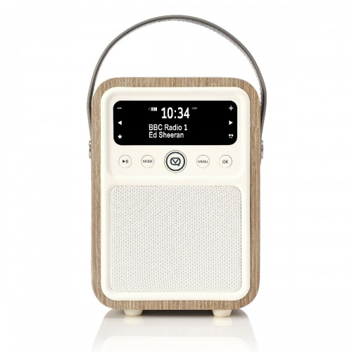 VQ Monty Portable DAB Radio & Bluetooth Speaker in Green Grass Oak