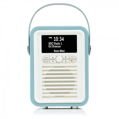 VQ Retro Mini Portable DAB & FM Radio with Bluetooth in Mint