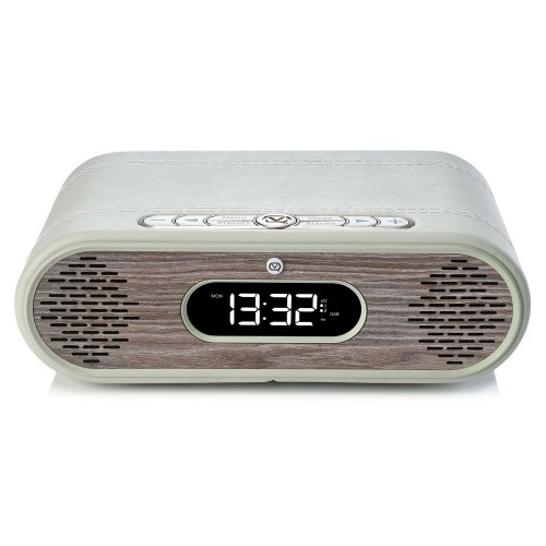 VQ Rosie Lee Light DAB/DAB+ Digital Radio & Bluetooth Speaker - Real Wood - Grey Leather & Limed Oak