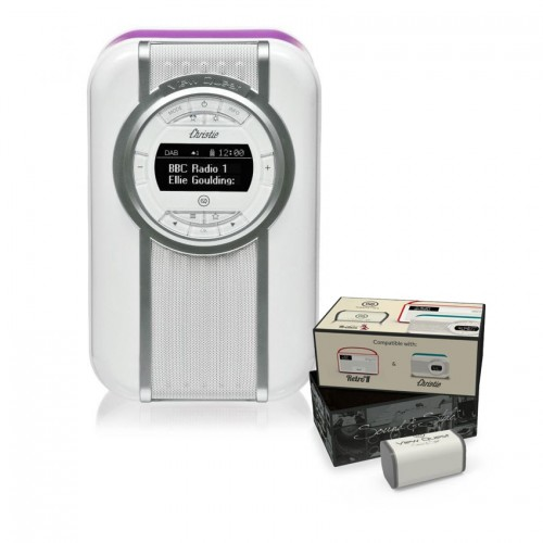 VQ Christie Retro DAB Radio & Bluetooth Speaker in Radiant Orchid with Rechargeable Battery Pack