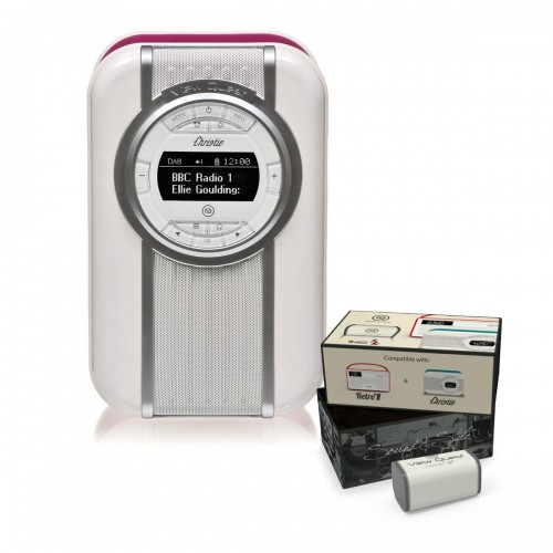 VQ Christie Retro DAB Radio & Bluetooth Speaker in Deep Purple with Rechargeable Battery Pack