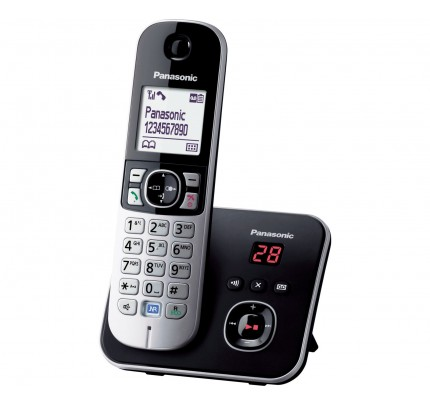 Panasonic KX-TG 6821 Cordless Phone, Single Handset with Answer Machine