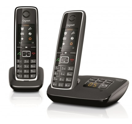 Siemens Gigaset C530A Cordless Phone, Twin Handset with Answer Machine