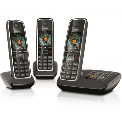 Siemens Gigaset C530A Cordless Phone, Trio Handset with Answer Machine