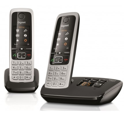 Siemens Gigaset C430A Cordless Phone, Twin Handset with Answer Machine