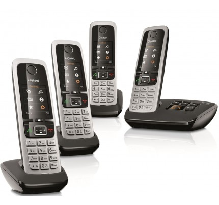 Siemens Gigaset C430A Cordless Phone, Quad Handset with Answer Machine