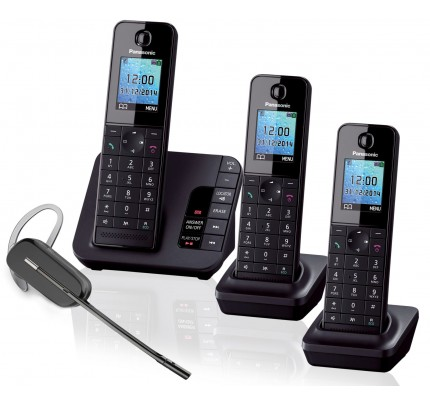 Panasonic KX-TGH223 Trio with Plantronics C565