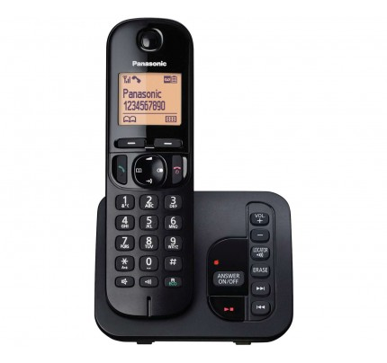 Panasonic KX-TGC 220EB Cordless Phone, Single Handset with Answer Machine