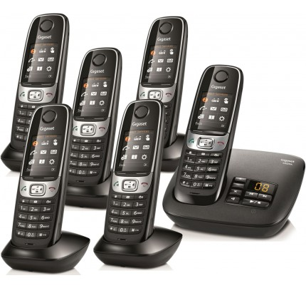 Siemens Gigaset C620A Cordless Phone, Six Handsets with Answer Machine