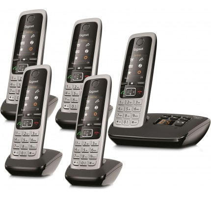 Siemens Gigaset C430A Cordless Phone, Five Handsets with Answer Machine