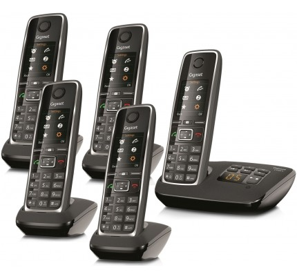 Siemens Gigaset C530A Cordless Phone, Five Handsets with Answer Machine