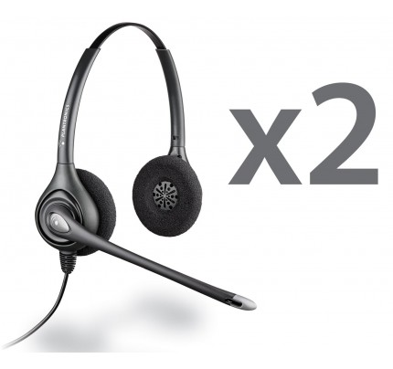 Plantronics HW261N Twin Stereo Corded Headsets