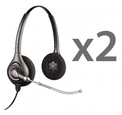 Plantronics HW261 Twin Stereo Corded Headsets