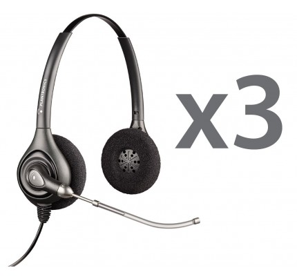 Plantronics HW261 Trio Stereo Corded Headsets