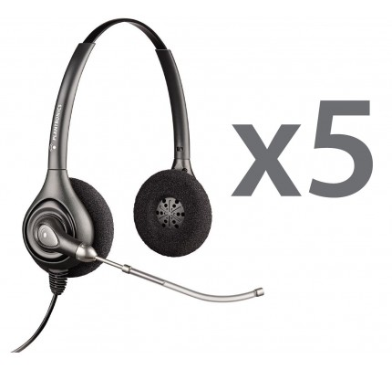 Plantronics HW261 Quint Stereo Corded Headsets