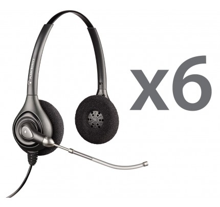 Plantronics HW261 Sextet Stereo Corded Headsets