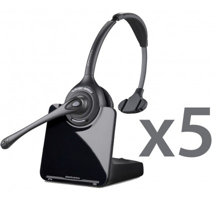 Plantronics CS510 Wireless Headset Quint