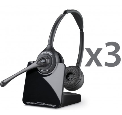 Plantronics CS520 Wireless Headset Trio