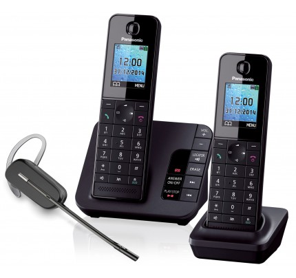 Panasonic KX-TGH222 Twin with Plantronics C565