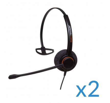Agent AP-1 Twin 2.5mm Corded Headset
