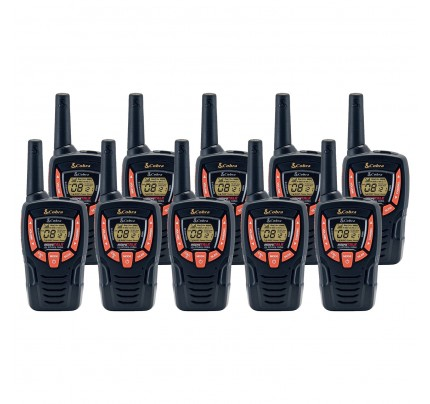 Cobra AM645 Ten Pack Walkie Talkies
