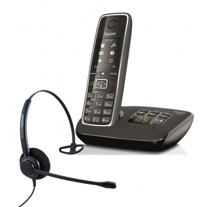 Siemens Gigaset C530A Cordless Phone with Corded Headset