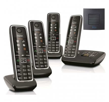 Siemens Gigaset C530A Quad Cordless Phones with Long Range