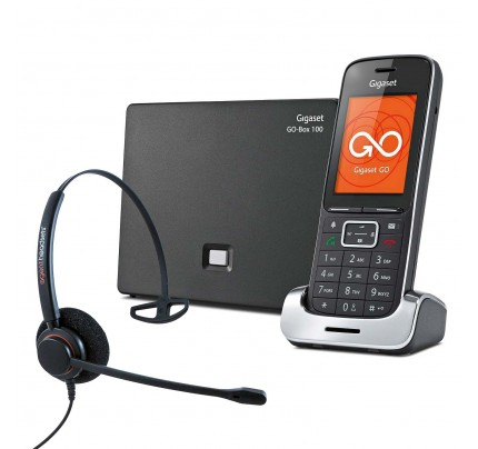 Siemens Gigaset SL450A GO VoIP Cordless Phone with Corded Headset