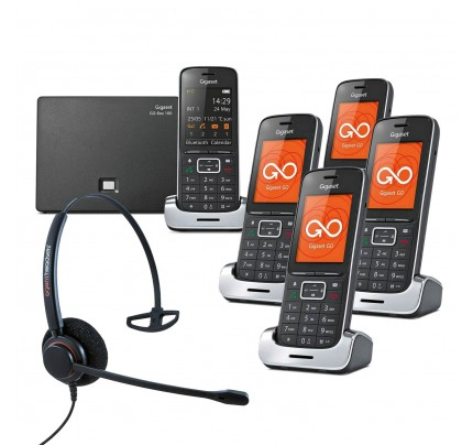 Siemens Gigaset SL450A GO Quint VoIP Cordless Phones with Corded Headset