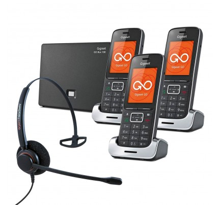 Siemens Gigaset SL450A GO Trio VoIP Cordless Phones with Corded Headset