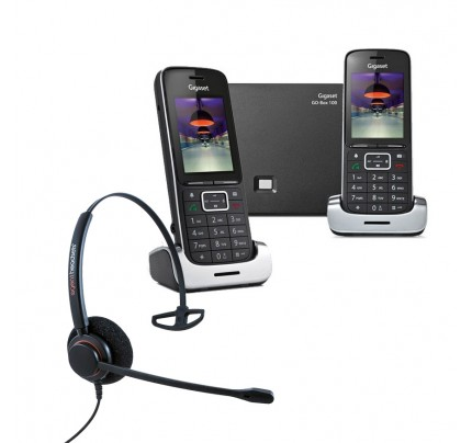 Siemens Gigaset SL450A GO Twin VoIP Cordless Phones with Corded Headset