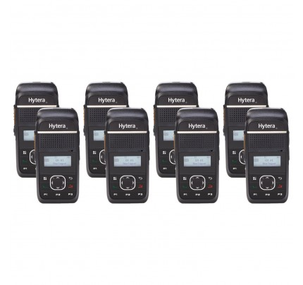 Hytera PD355LF Eight Pack License-Free Two Way Radios