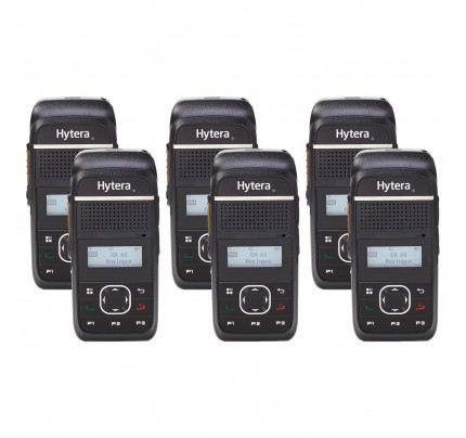 Hytera PD355LF Quad Pack License-Free Two Way Radios
