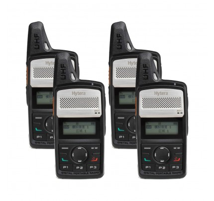 Hytera PD365LF Quad Pack License-Free Two Way Radio