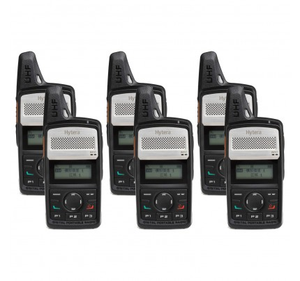 Hytera PD365LF Six Pack License-Free Two Way Radio