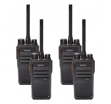 Hytera PD505LF Quad Pack License-Free Two-Way Radios