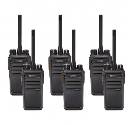 Hytera PD505LF Six Pack License-Free Two-Way Radios